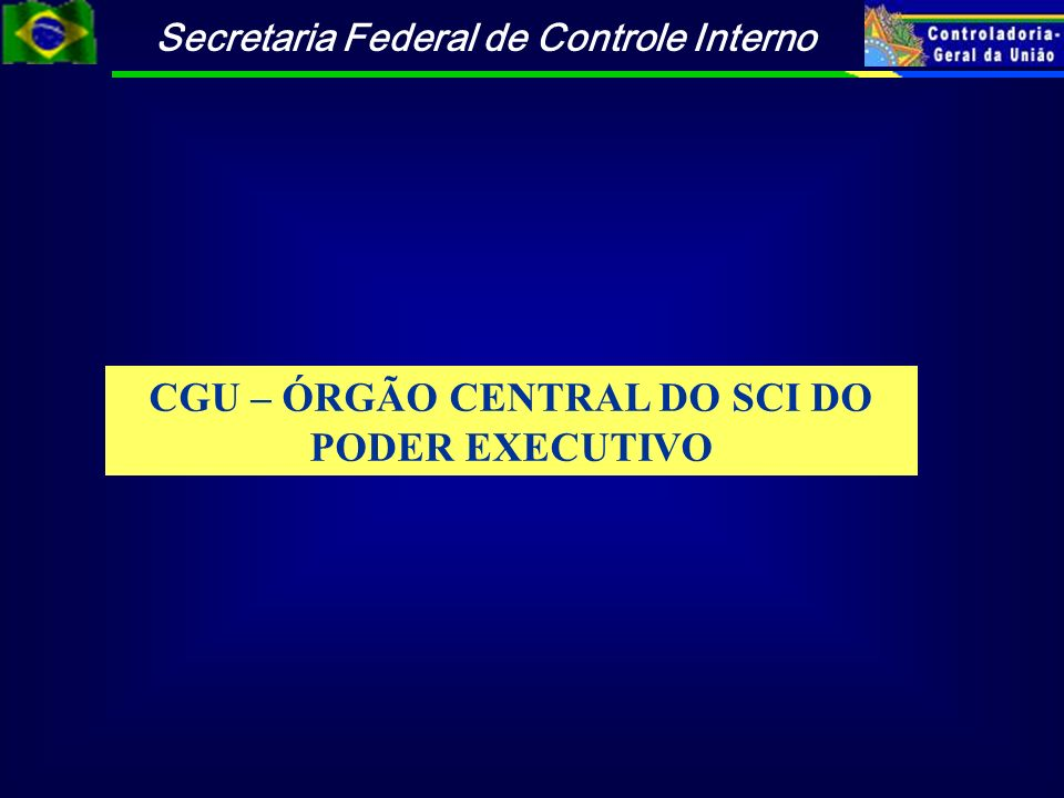 CGU – ÓRGÃO CENTRAL DO SCI DO PODER EXECUTIVO