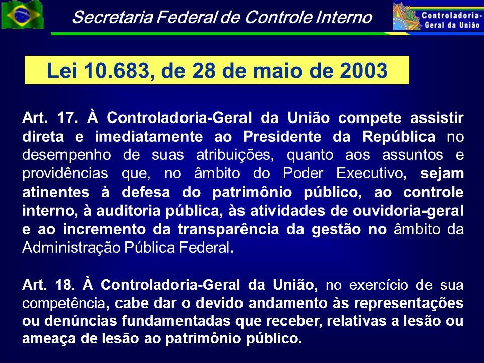 Lei 10.683, de 28 de maio de 2003