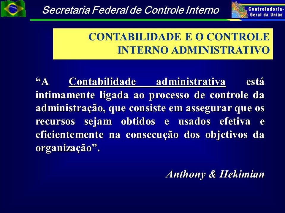 CONTABILIDADE E O CONTROLE INTERNO ADMINISTRATIVO