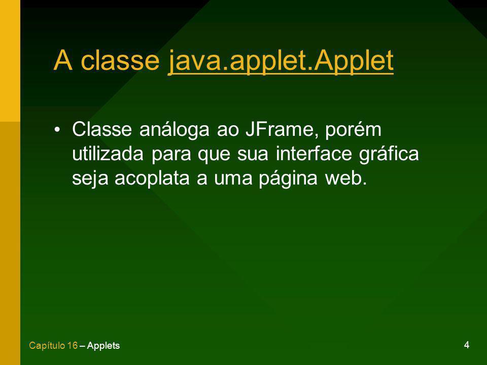 A classe java.applet.Applet