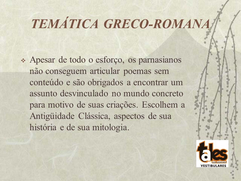 TEMÁTICA GRECO-ROMANA