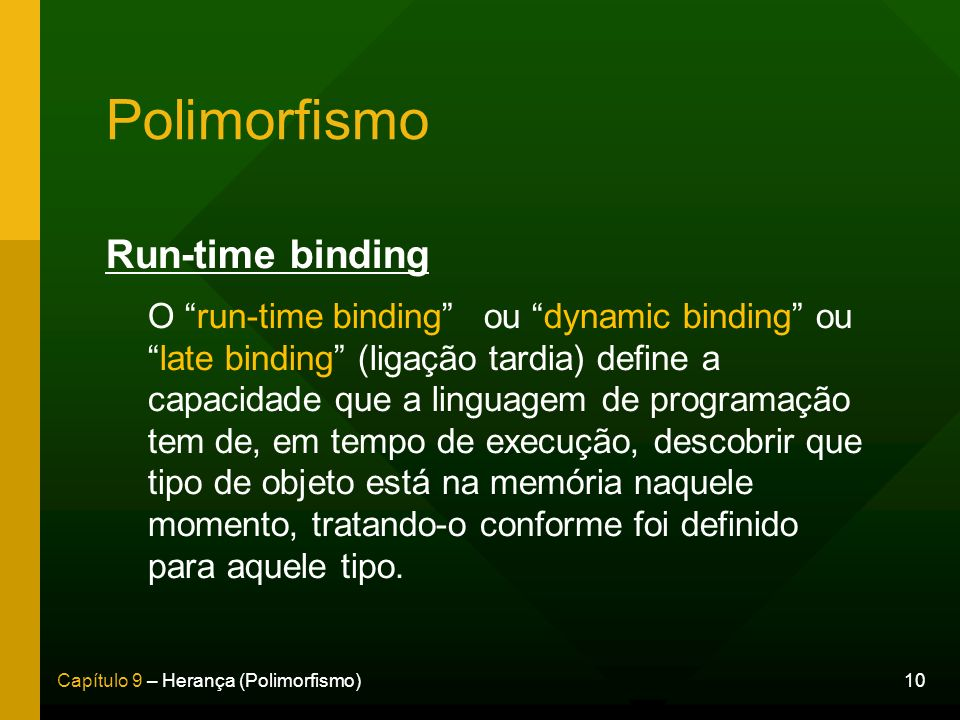 Polimorfismo Run-time binding