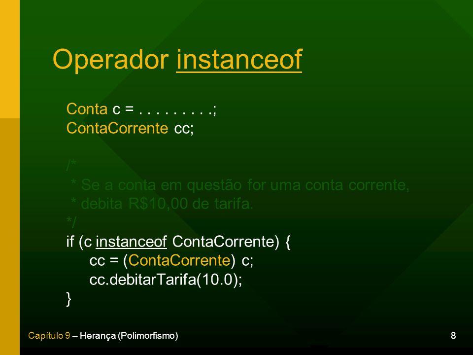 Operador instanceof