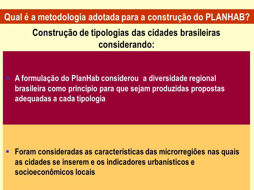 Qual é a metodologia adotada para a construção do PLANHAB