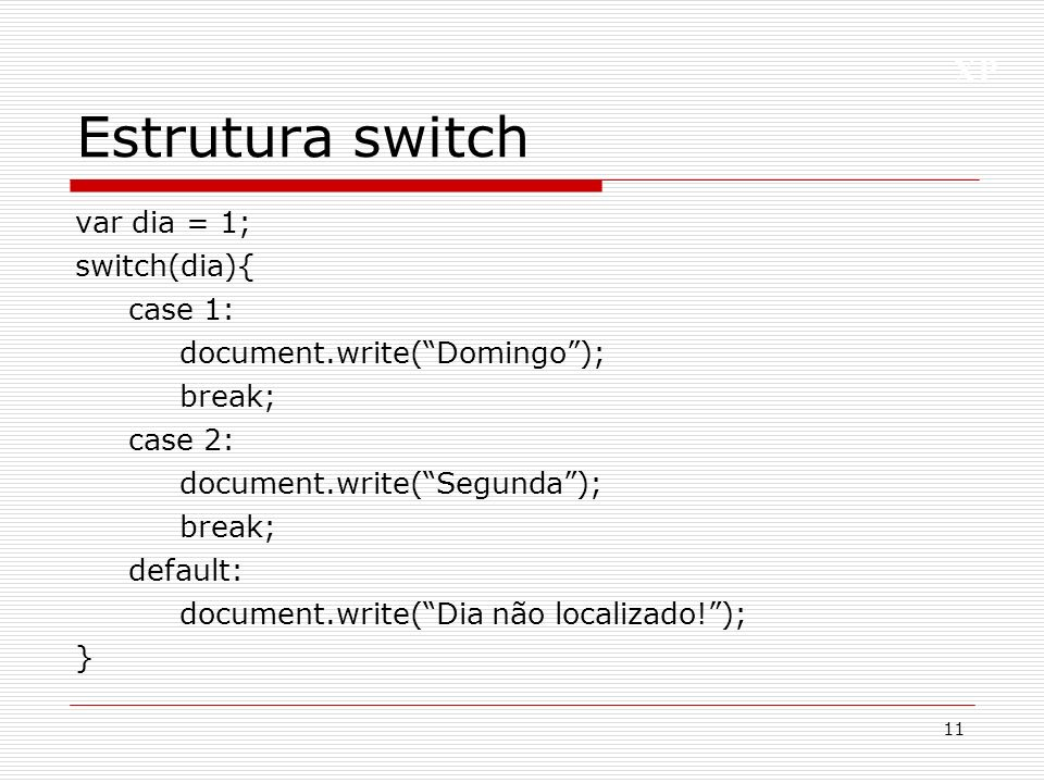 Estrutura switch