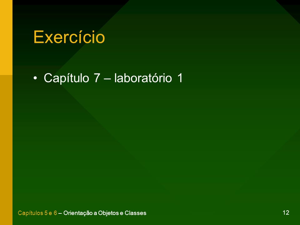 Exercício Capítulo 7 – laboratório 1