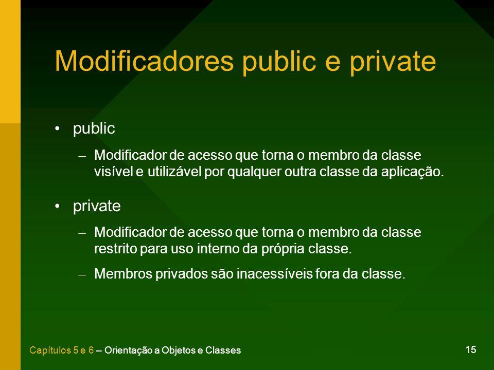 Modificadores public e private
