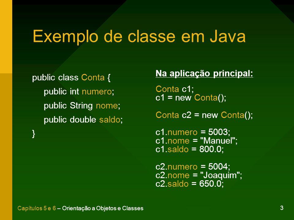 Exemplo de classe em Java
