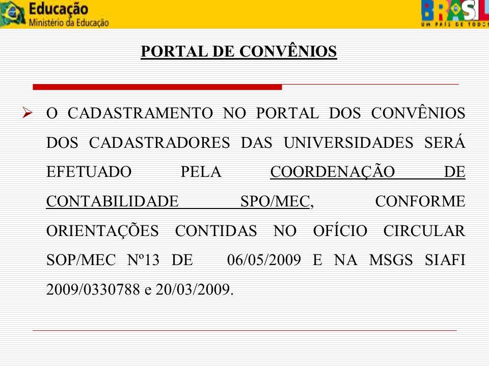 PORTAL DE CONVÊNIOS