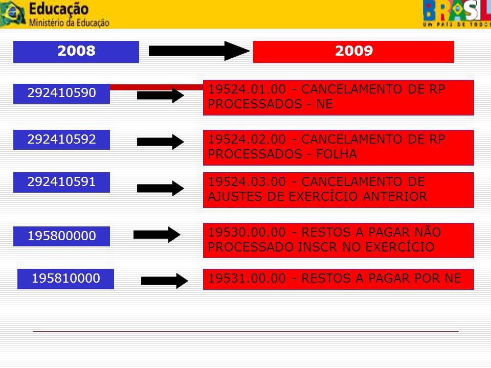 2008 2009 19524.01.00 - CANCELAMENTO DE RP PROCESSADOS - NE 292410590