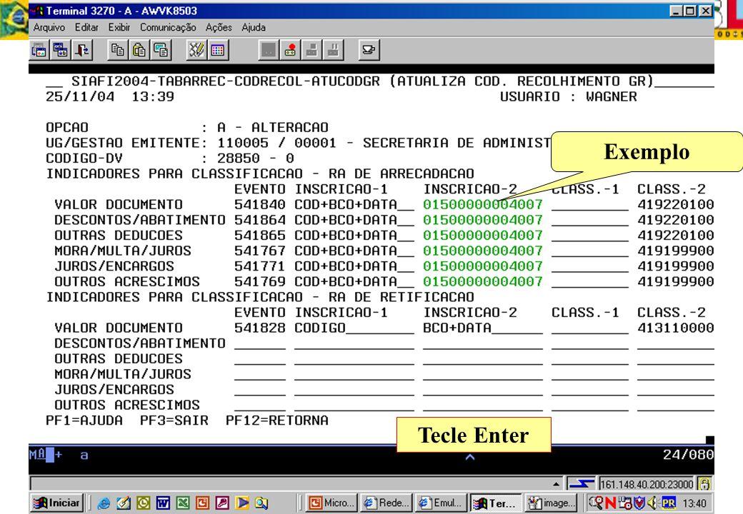 Exemplo Tecle Enter