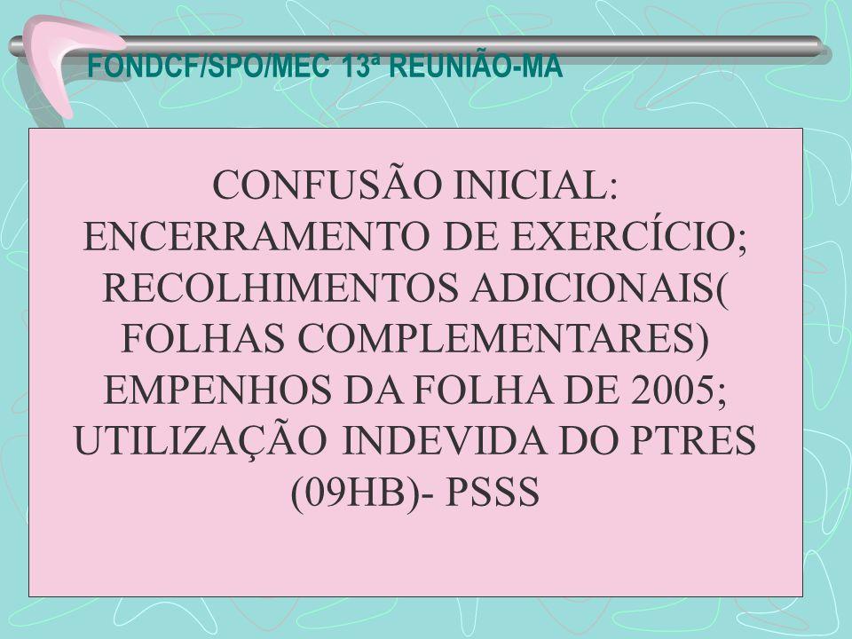 FONDCF/SPO/MEC 13ª REUNIÃO-MA