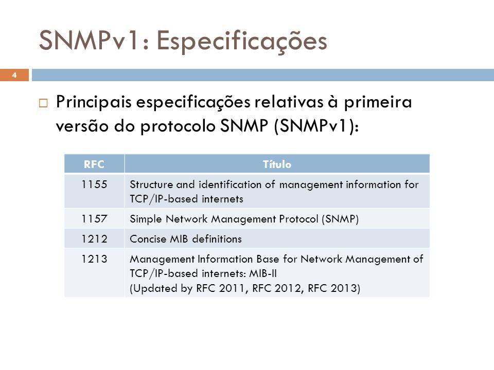 snmp baseado em slides gentilmente cedidos pelo prof jo227o