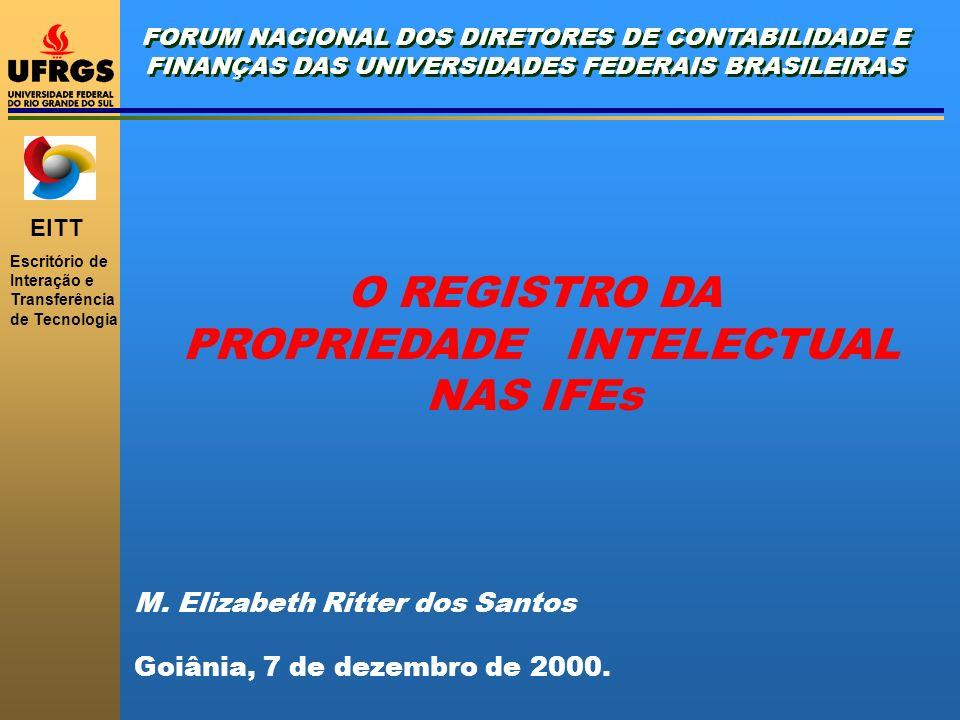 PROPRIEDADE INTELECTUAL NAS IFEs