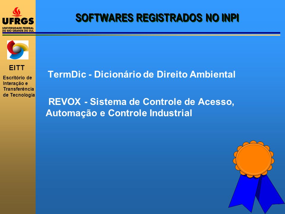 SOFTWARES REGISTRADOS NO INPI