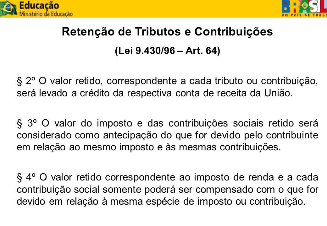 Retenção de Tributos e Contribuições
