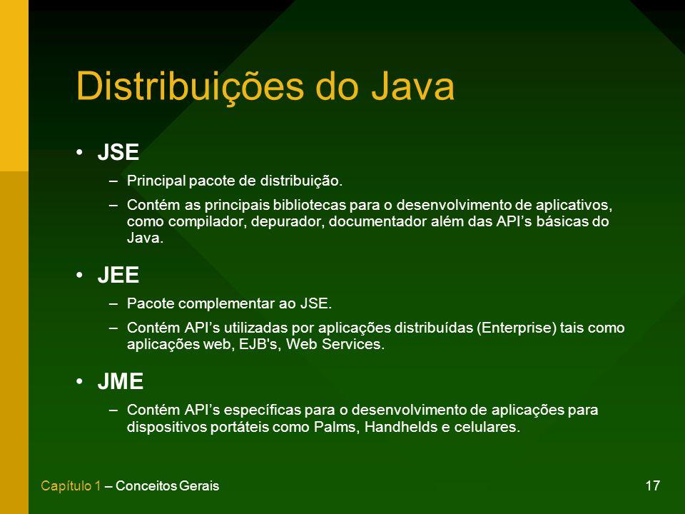 Distribuições do Java JSE JEE JME Principal pacote de distribuição.