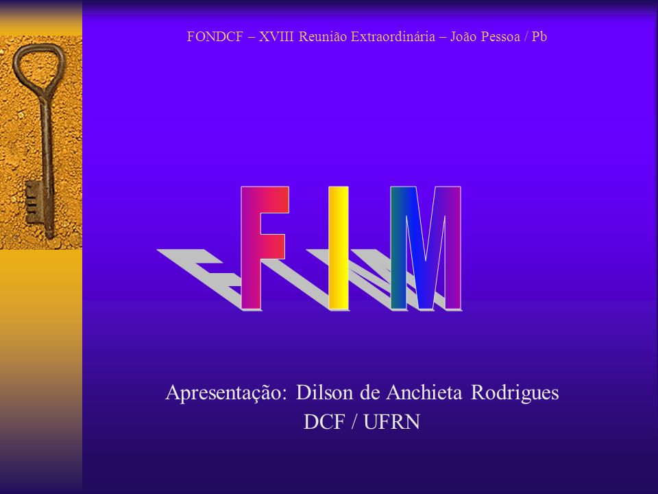 FONDCF – XVIII Reunião Extraordinária – João Pessoa / Pb