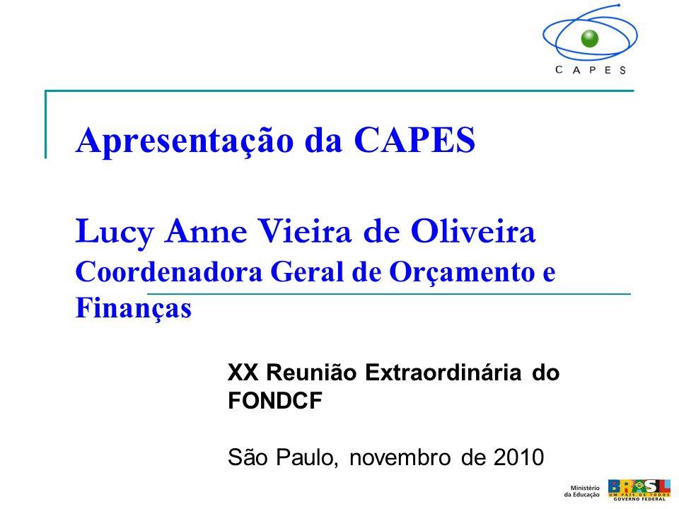 XX Reunião Extraordinária do FONDCF São Paulo, novembro de 2010