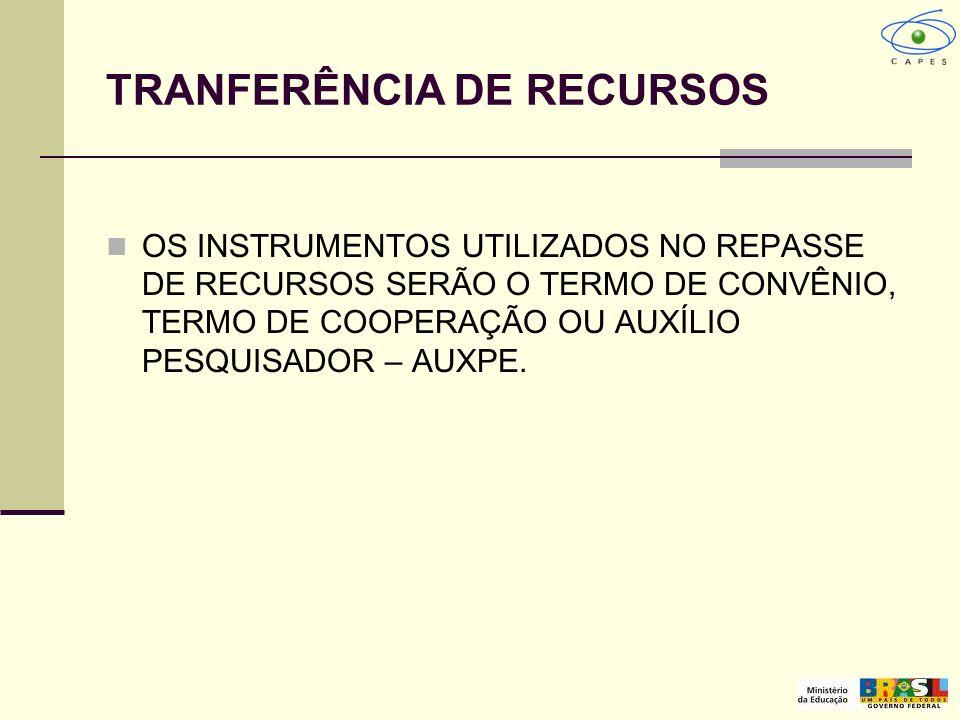 TRANFERÊNCIA DE RECURSOS