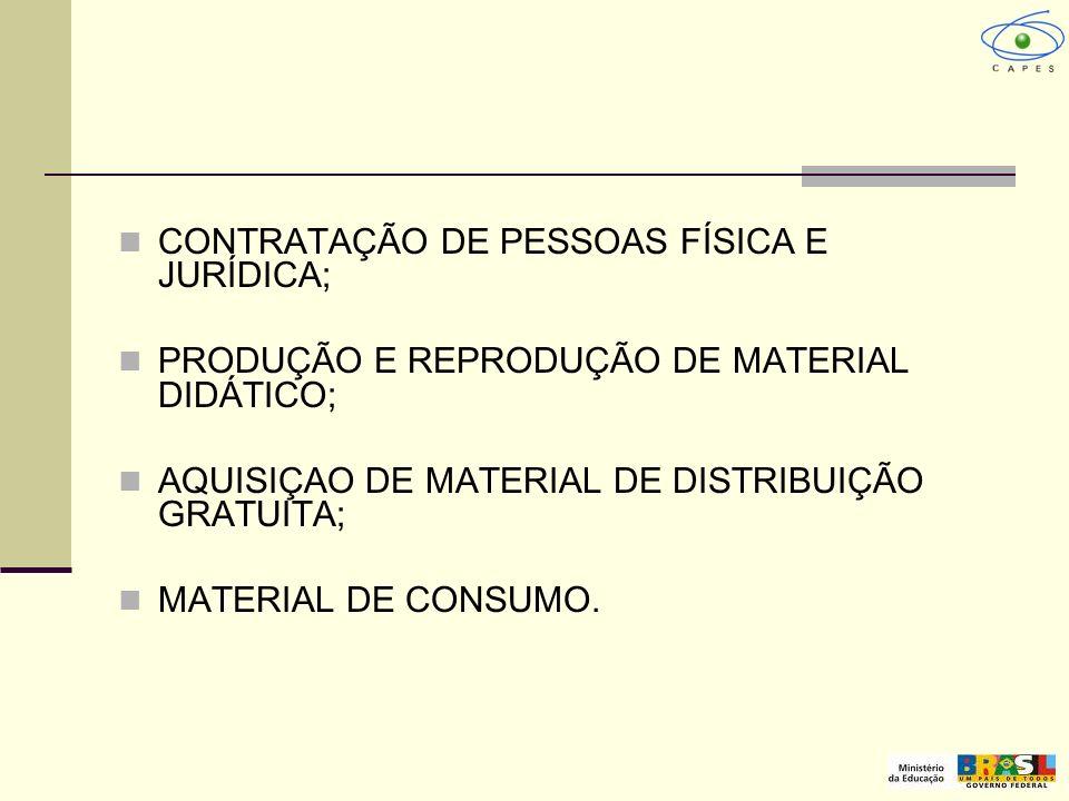 CONTRATAÇÃO DE PESSOAS FÍSICA E JURÍDICA;