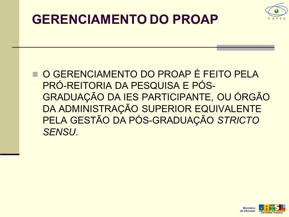 GERENCIAMENTO DO PROAP