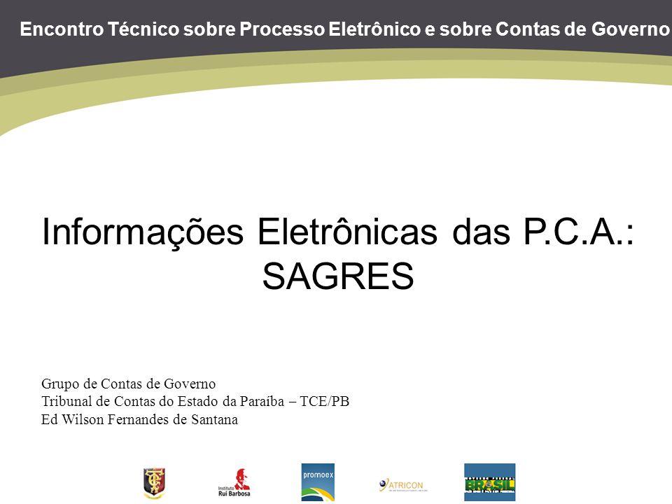 Informações Eletrônicas das P.C.A.: SAGRES