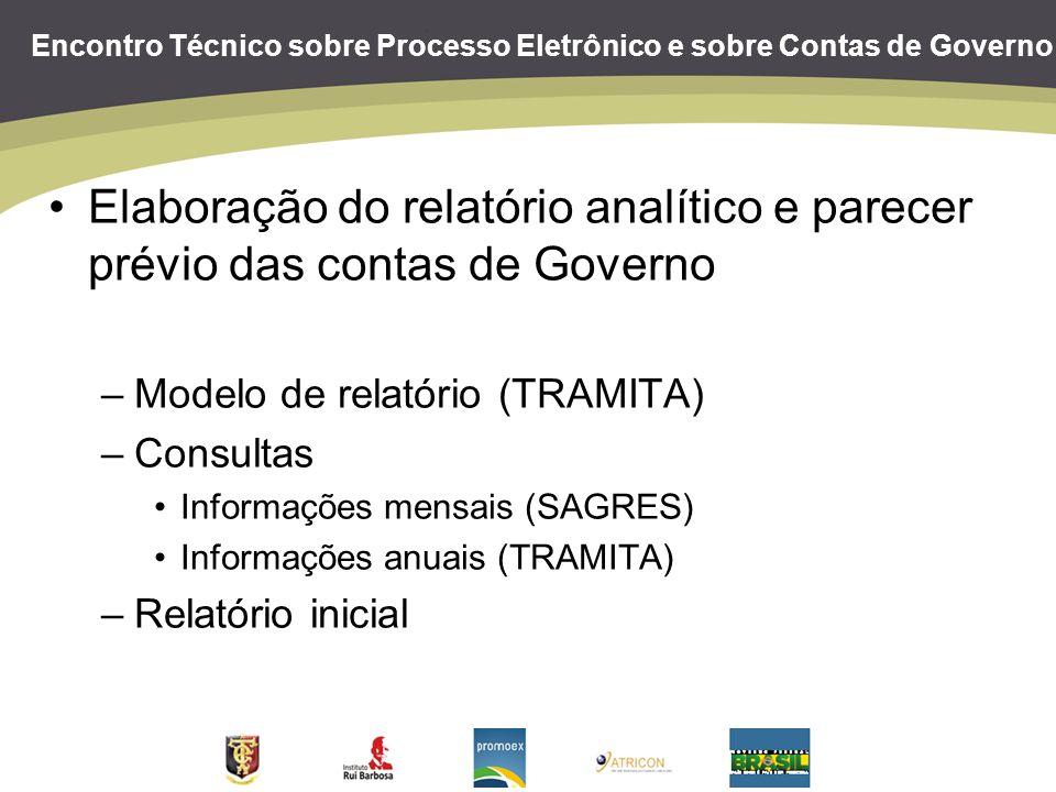 Elaboração do relatório analítico e parecer prévio das contas de Governo