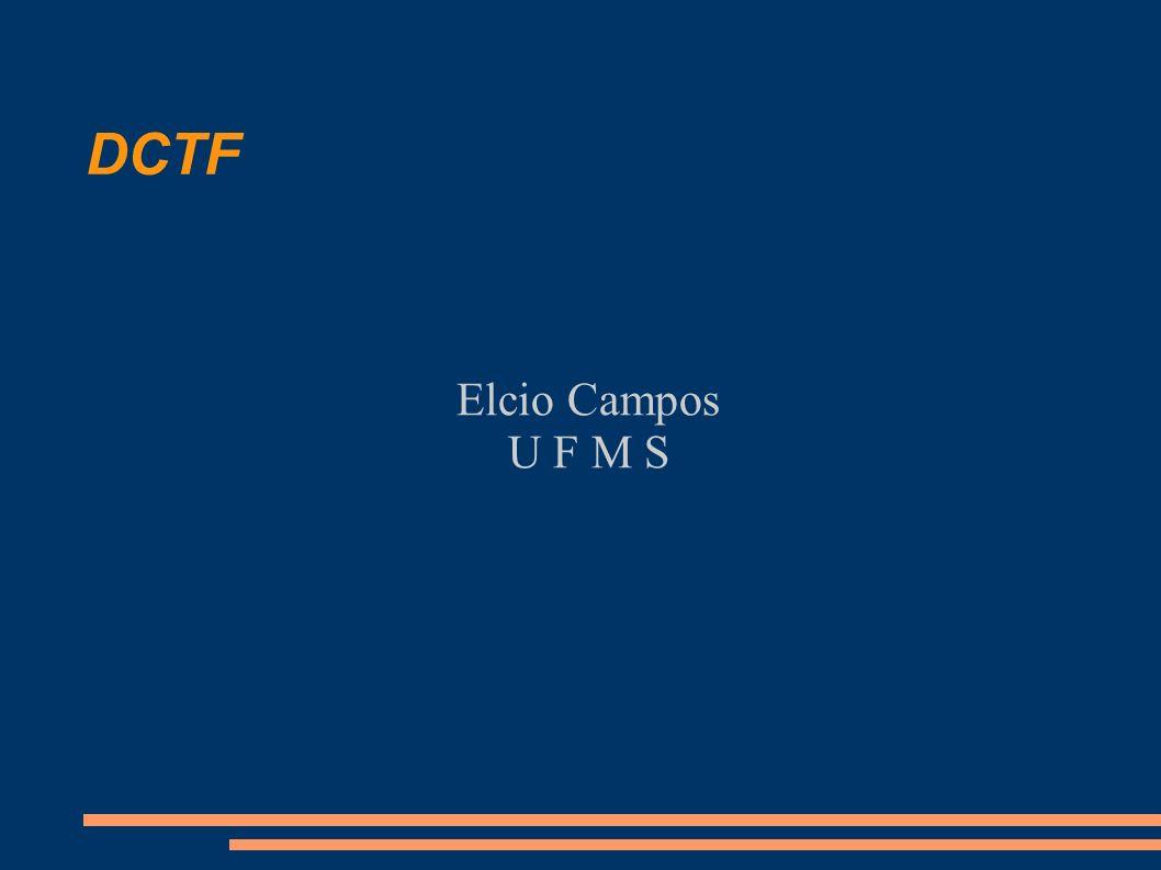 DCTF Elcio Campos U F M S