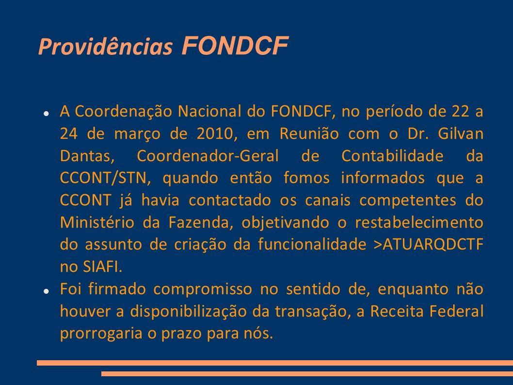 Providências FONDCF
