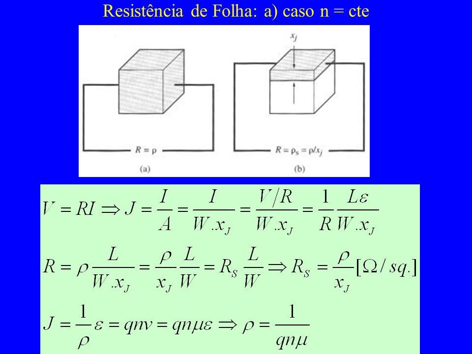 Resistência de Folha: a) caso n = cte