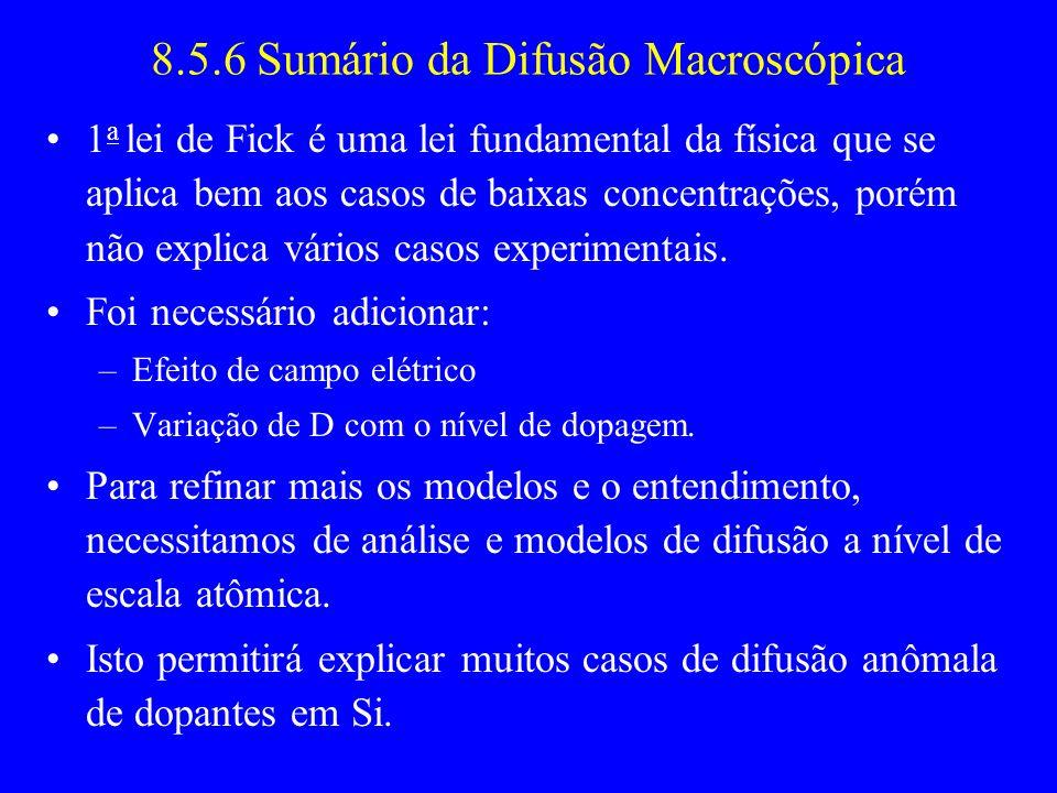 8.5.6 Sumário da Difusão Macroscópica