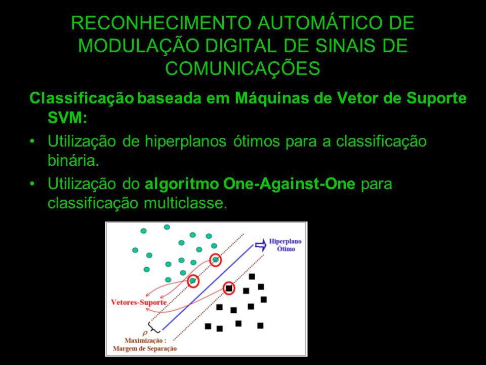 RECONHECIMENTO AUTOMÁTICO DE MODULAÇÃO DIGITAL DE SINAIS DE COMUNICAÇÕES