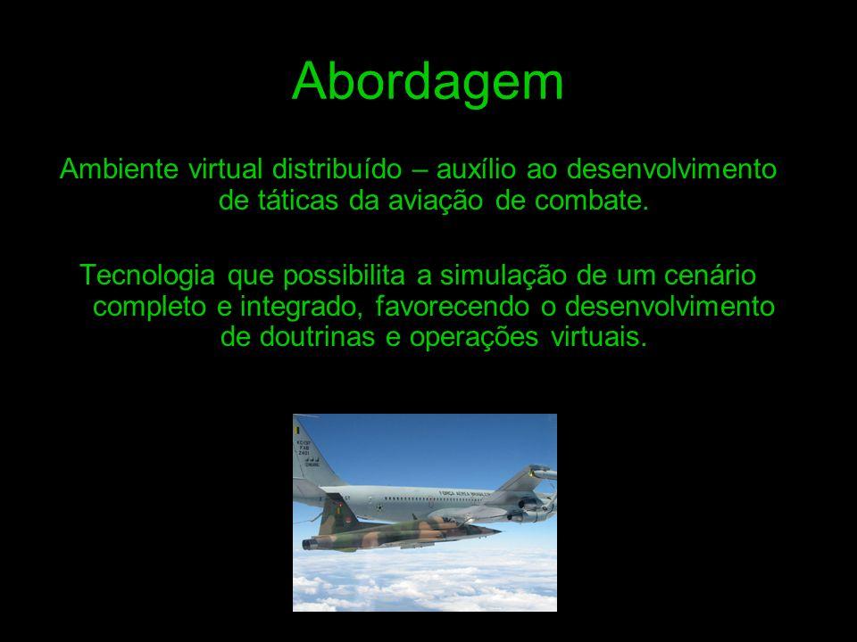 Abordagem Ambiente virtual distribuído – auxílio ao desenvolvimento de táticas da aviação de combate.