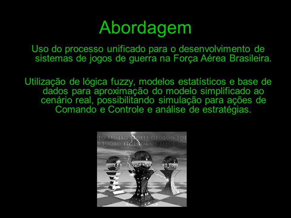 AbordagemUso do processo unificado para o desenvolvimento de sistemas de jogos de guerra na Força Aérea Brasileira.