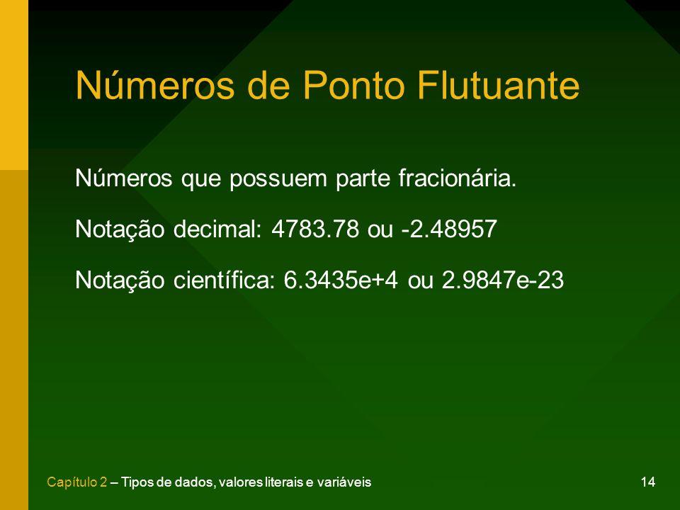 Números de Ponto Flutuante