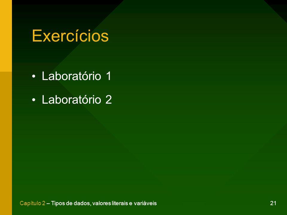Exercícios Laboratório 1 Laboratório 2