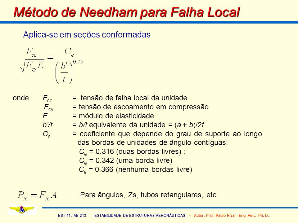 Método de Needham para Falha Local