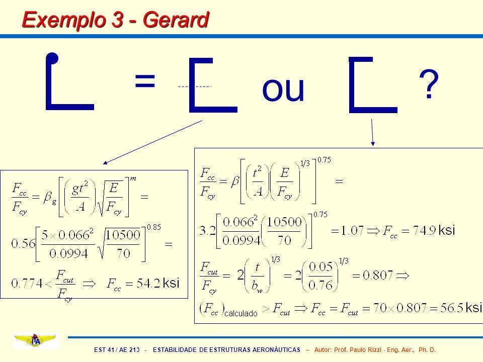 Exemplo 3 - Gerard = ou