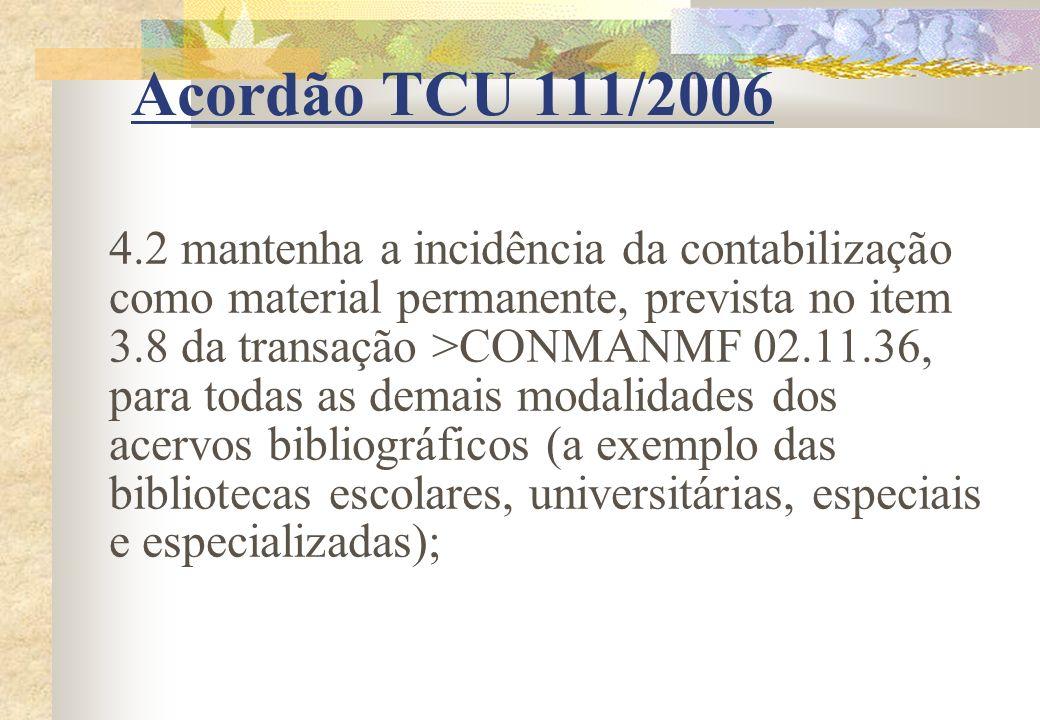 Acordão TCU 111/2006