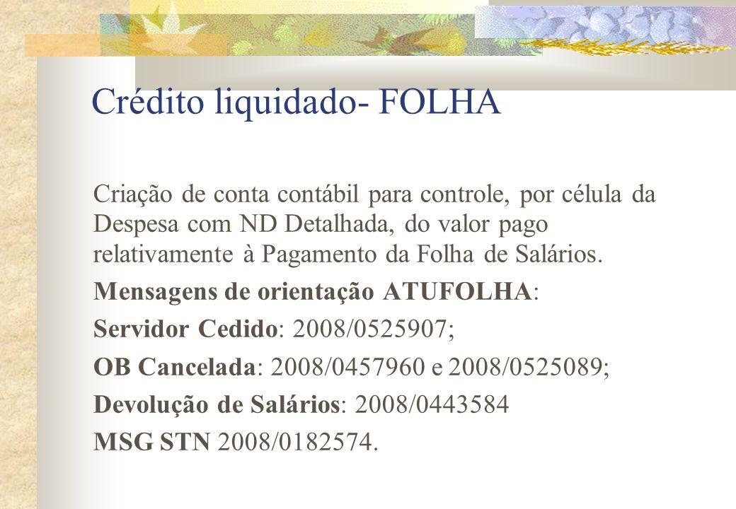 Crédito liquidado- FOLHA