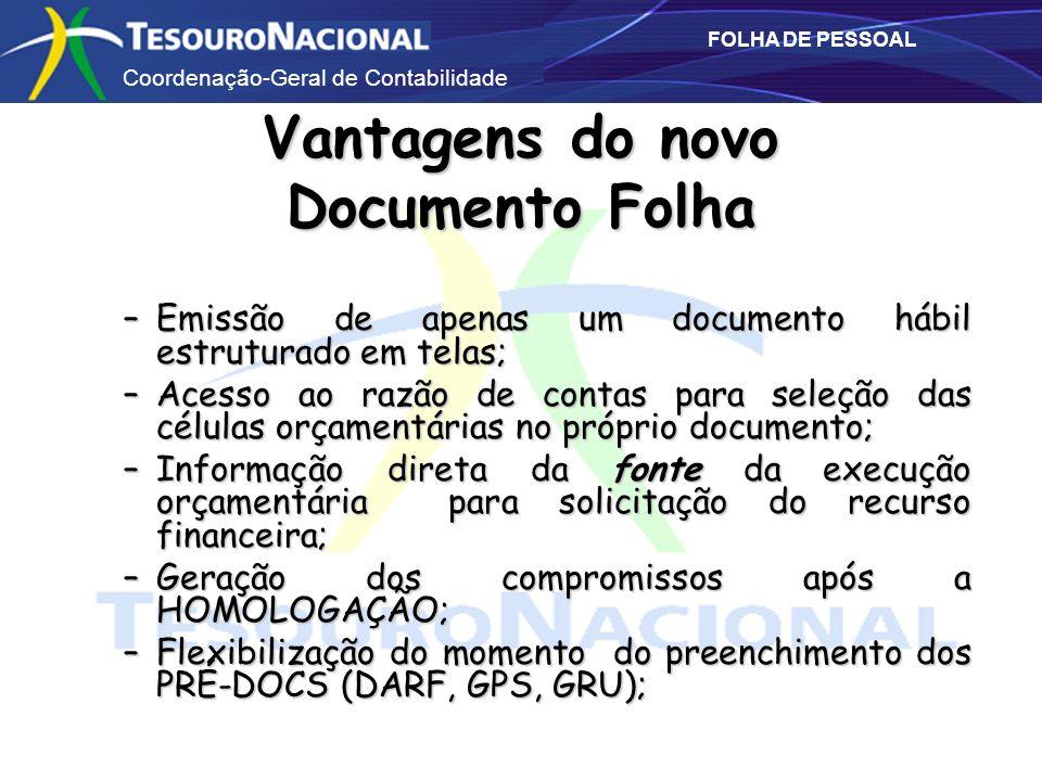 Vantagens do novo Documento Folha