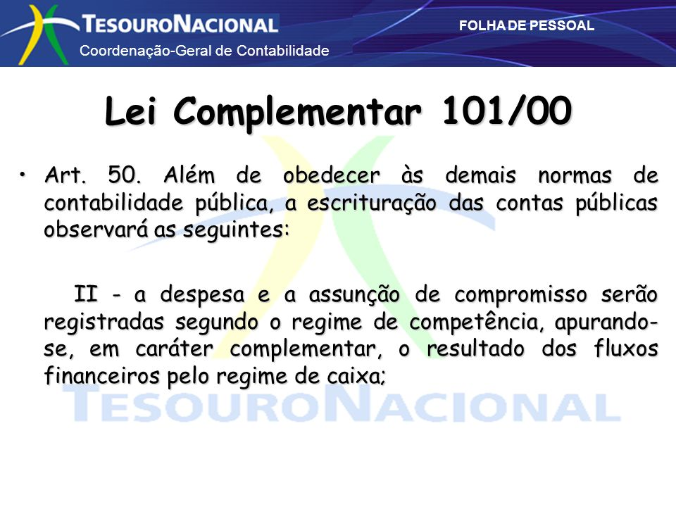 Lei Complementar 101/00