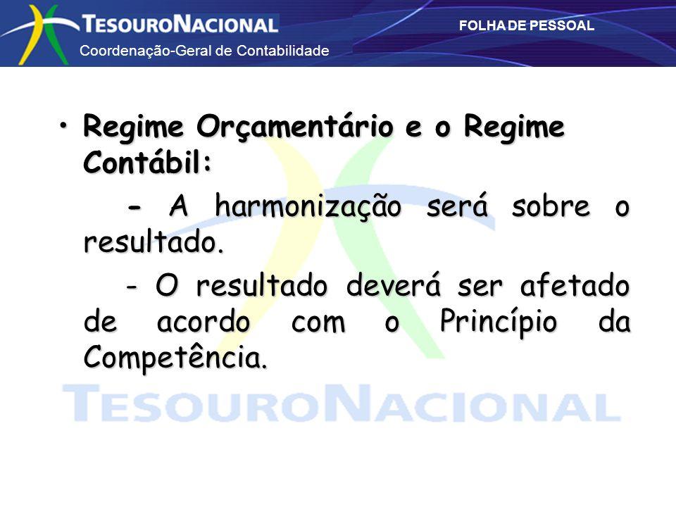 Regime Orçamentário e o Regime Contábil: