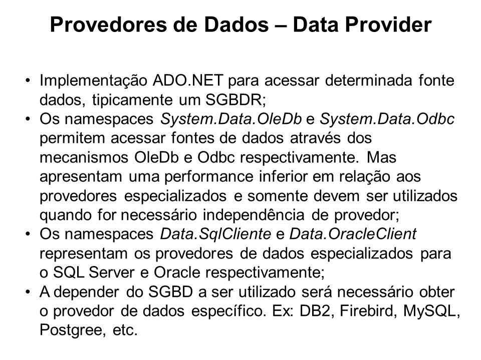 Provedores de Dados – Data Provider