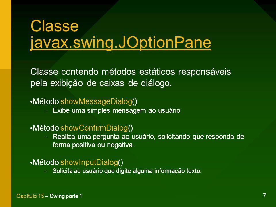 Classe javax.swing.JOptionPane