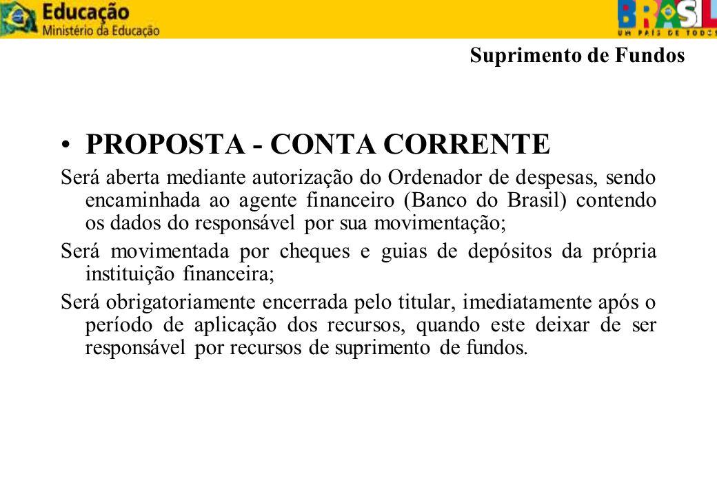 PROPOSTA - CONTA CORRENTE