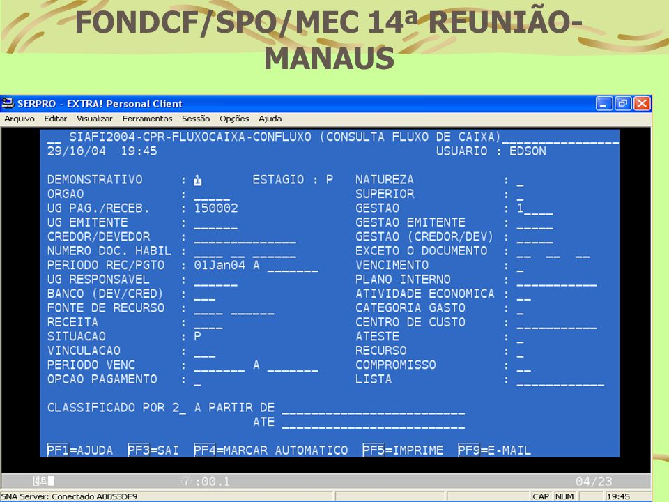 FONDCF/SPO/MEC 14ª REUNIÃO-MANAUS