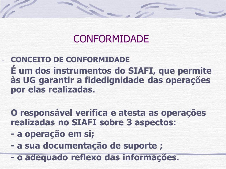 CONFORMIDADE CONCEITO DE CONFORMIDADE.
