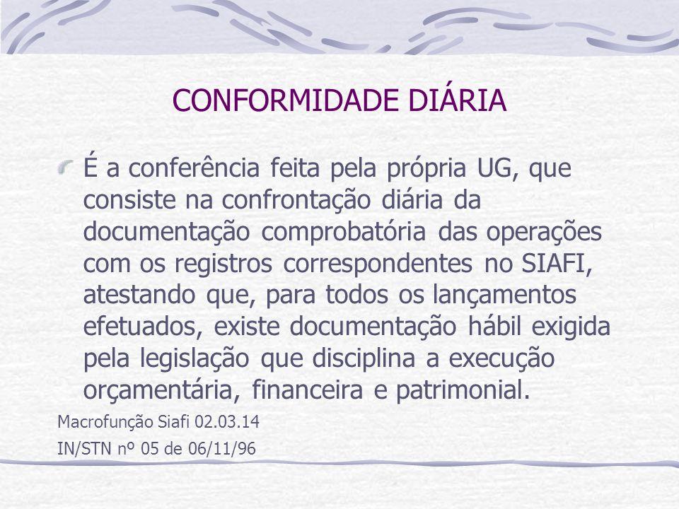 CONFORMIDADE DIÁRIA